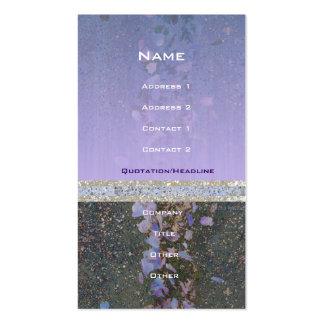 Petals Pavement Purple Profile Card Business Card Template