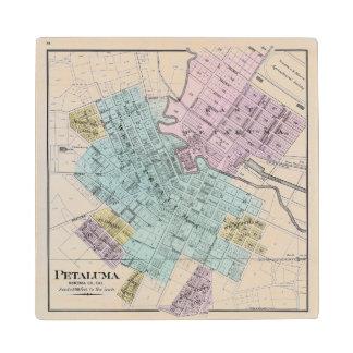 Petaluma, California 2 Wood Coaster