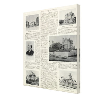 Petaluma Residences, California Stretched Canvas Print