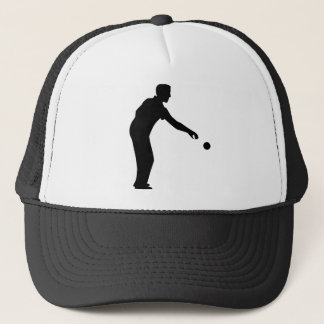 Petanque boccia player trucker hat