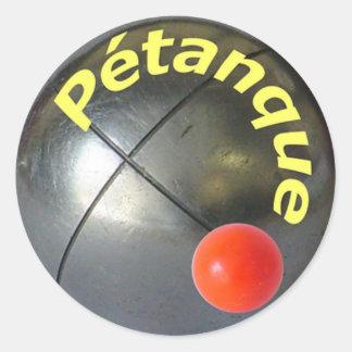 Petanque Sticker Round Sticker