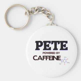 Pete Powered by Caffeine Keychains