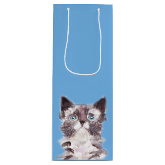 Pete the Cat (blue) Wine Gift Bag