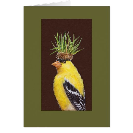 Pete the goldfinch card