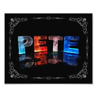 Pete - The Name Pete in 3D Lights (Photograph)