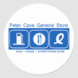 Peter Cave General Store Apparel Round Sticker