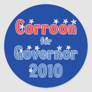 Peter Corroon for Governor 2010 Star Design Sticker