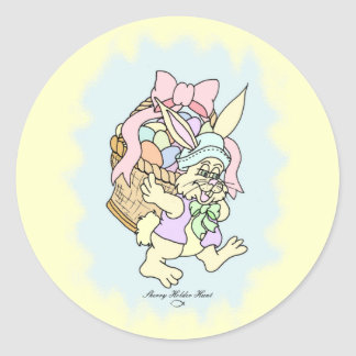 Peter Cotton-tail Easter design 5 Round Stickers