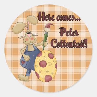 Peter Cottontail Round Sticker