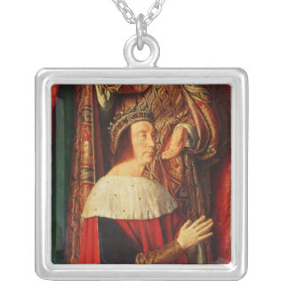 Peter II de Beaujeu of Bourbon Silver Plated Necklace