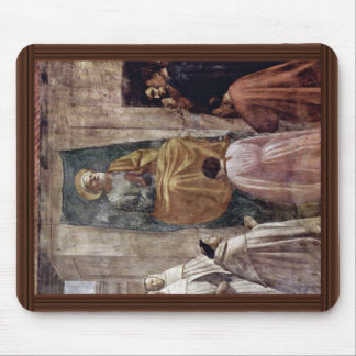 Peter In Cathedra By Masaccio (Best Quality) Mouse Pad