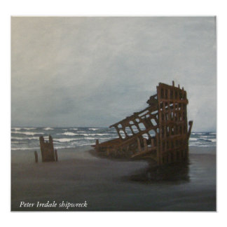 Peter Iredale shipwreck print
