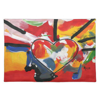 Peter Max artwork style Heart American MoJo Placem Placemat