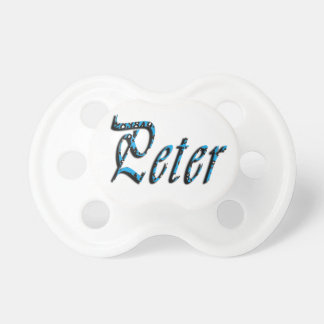 Peter, Name, Logo, Baby Boys Dummy Baby Pacifier