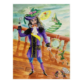 Peter Pan And Captain Hook Poster