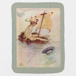 Peter Pan Baby Blanket Moss Background