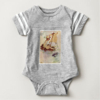 Peter Pan on Nest Raft Baby Bodysuit