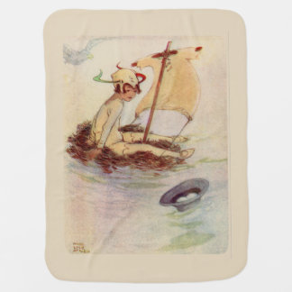 Peter Pan on nest raft - beige background Buggy Blanket
