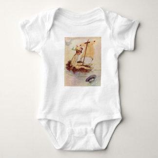 Peter Pan on raft Baby Bodysuit