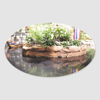 Peter Pan Pond Oval Sticker