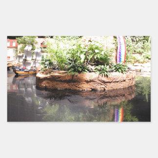 Peter Pan Pond Rectangular Sticker