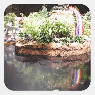 Peter Pan Pond Square Sticker
