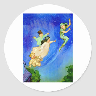 PETER PAN, WENDY, JOHN AND MICHAEL FLY AWAY STICKERS