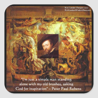 Peter Paul Rubens Art & Quote Gifts & Cards Square Sticker
