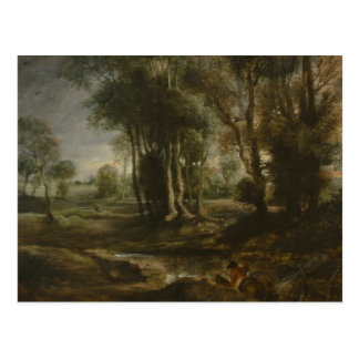 Peter Paul Rubens - Evening Landscape with Timber Postcard