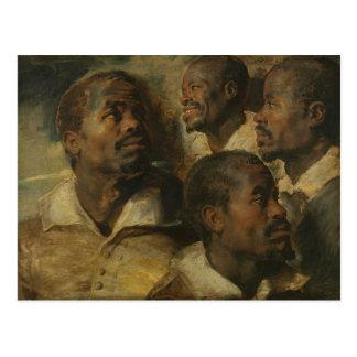 Peter Paul Rubens - Four Studies of a Head Postcard