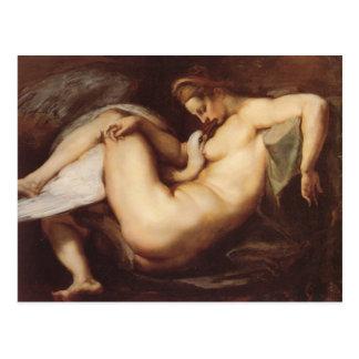 Peter Paul Rubens - Leda and the Swan Postcard