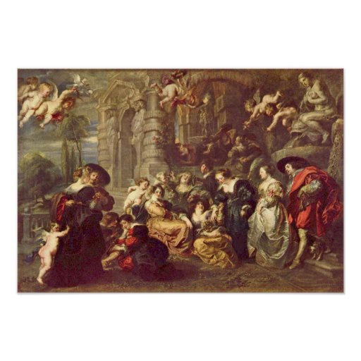 Peter Paul Rubens - Love Garden Poster
