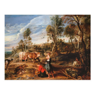 Peter Paul Rubens - Milkmaids with Cattle Postcard