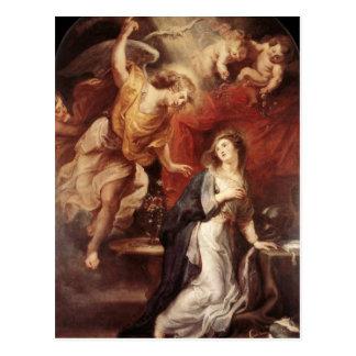 Peter Paul Rubens - The Annunciation Postcard