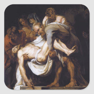 Peter Paul Rubens- The Entombment Square Sticker