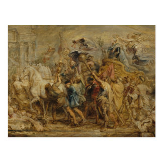 Peter Paul Rubens - The Triumph of Henry IV Postcard