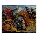 Peter Paul Rubens - Tiger and lion hunting Poster