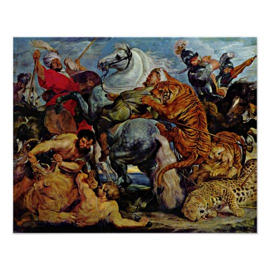 Peter Paul Rubens - Tiger and lion hunting