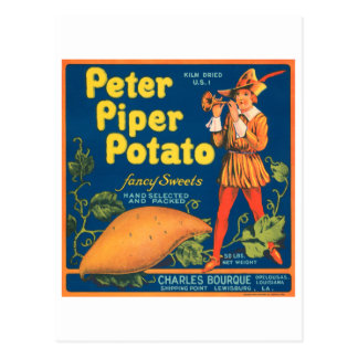 Peter Piper Potato Fancy Sweets Vintage Crate Labe Postcard