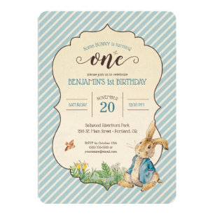 1st birthday invitations zazzle uk peter rabbit babys first birthday invitation filmwisefo