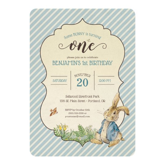 Peter rabbit babys first birthday invitation zazzle peter rabbit babys first birthday invitation filmwisefo