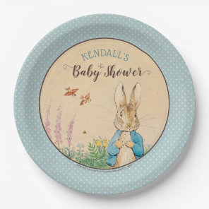 Peter Rabbit   Boy Baby Shower Paper Plate