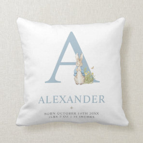 Peter Rabbit | Personalised Letter A Cushion