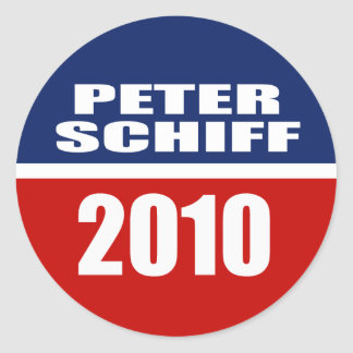PETER SCHIFF FOR SENATE ROUND STICKER