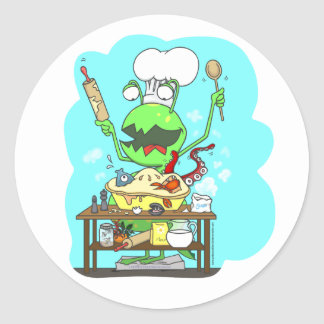 Peter & the Closet Monster, baking Round Sticker
