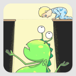 Peter & the Closet Monster, cover Square Sticker