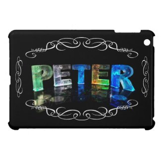 Peter - The Name Peter in 3D Lights (Photograph) iPad Mini Cover
