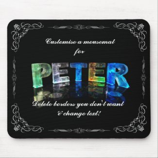 Peter - The Name Peter in 3D Lights (Photograph) Mouse Mat