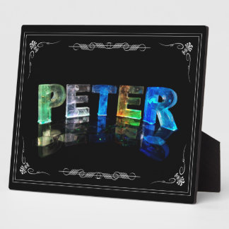Peter  - The Name Peter in 3D Lights (Photograph) Plaque