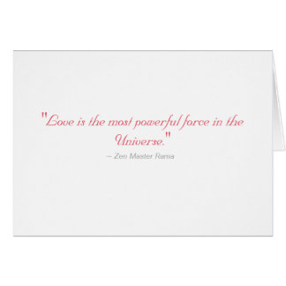 Peter- Wedding Card: Love is most powerful force Greeting Card